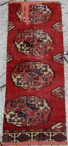 Pre 1800 Salor carpet fragment, The Antique Rug & Textile Show 2009 in San Francisco