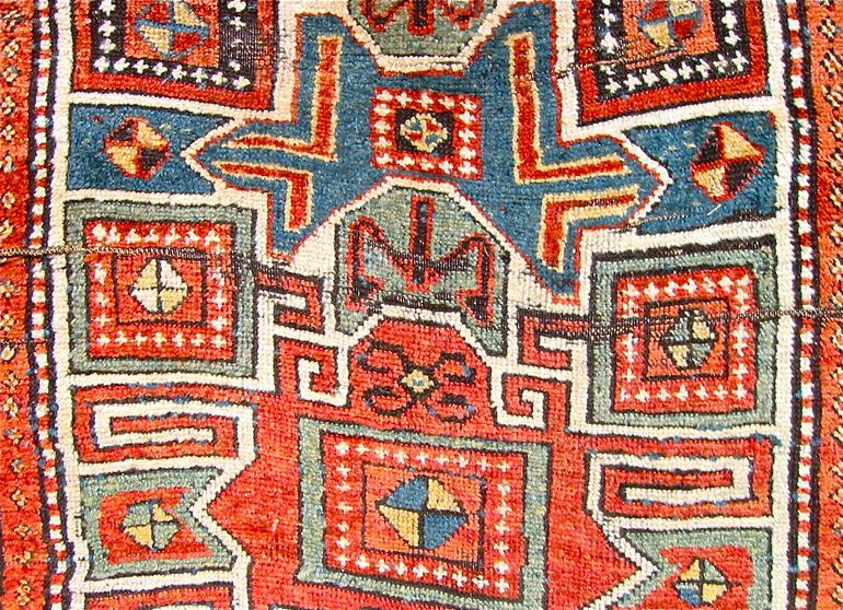 Kurdish long rug, The Antique Rug & Textile Show 2009 in San Francisco
