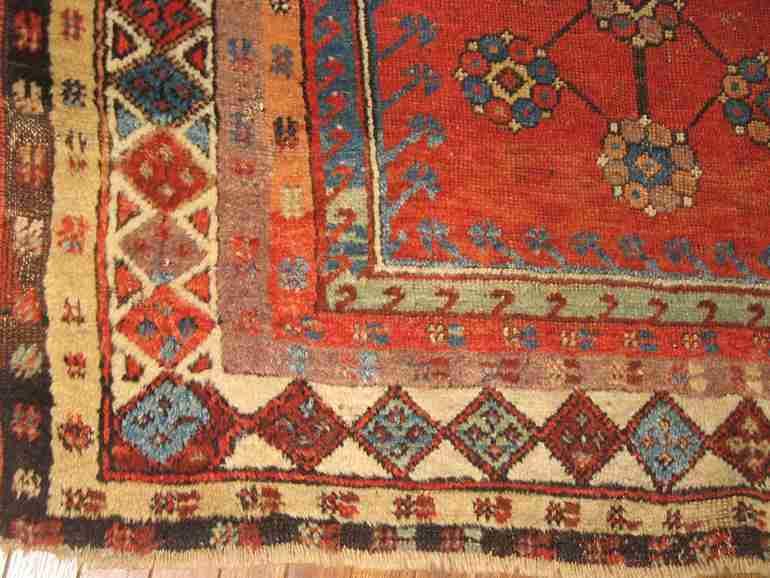Konya prayer detail, The Antique Rug & Textile Show 2009 in San Francisco