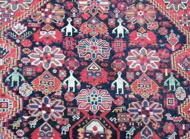 Khamseh 19th Century Southwest Persia, The Antique Rug & Textile Show 2009 in San Francisco