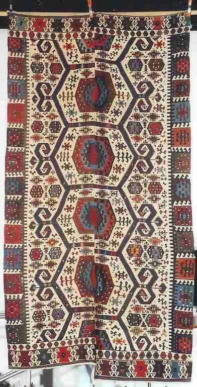 Mid 19th century Anatolian kilim, The Antique Rug & Textile Show 2009 in San Francisco