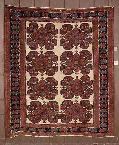 Afshar rug, The Antique Rug & Textile Show 2009 in San Francisco
