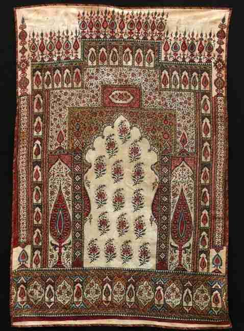 Kalamkari prayer cloth early 19th century, The Antique Rug & Textile Show 2009 in San Francisco
