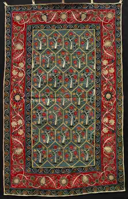 Resht felt,  1st half, 19th century, South Caspian, Iran, The Antique Rug & Textile Show 2009 in San Francisco