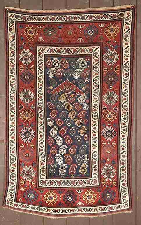 19th century Karabaugh or Gendje prayer rug, The Antique Rug & Textile Show 2009 in San Francisco