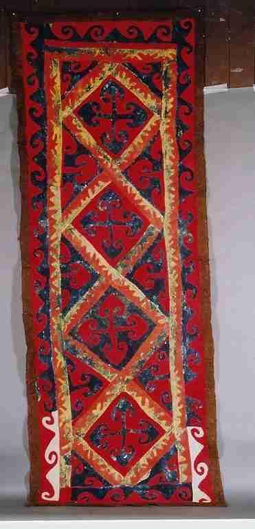 19th century Uzbek felt rug 4×10, The Antique Rug & Textile Show 2009 in San Francisco