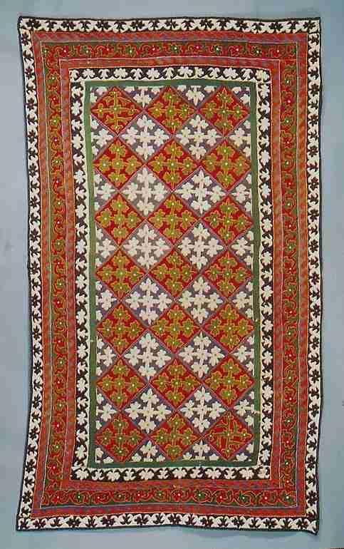19th century either Persian or Uzbek felt rug, The Antique Rug & Textile Show 2009 in San Francisco