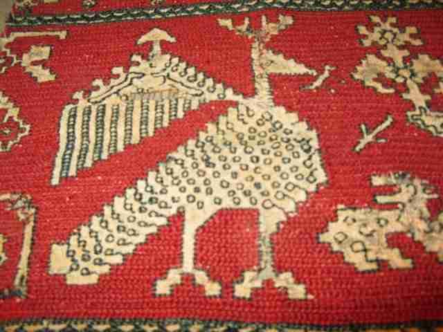 AZEIMMUR VOLTURE (RIF), XVII or XVIII century, detail, The Antique Rug & Textile Show 2009 in San Francisco