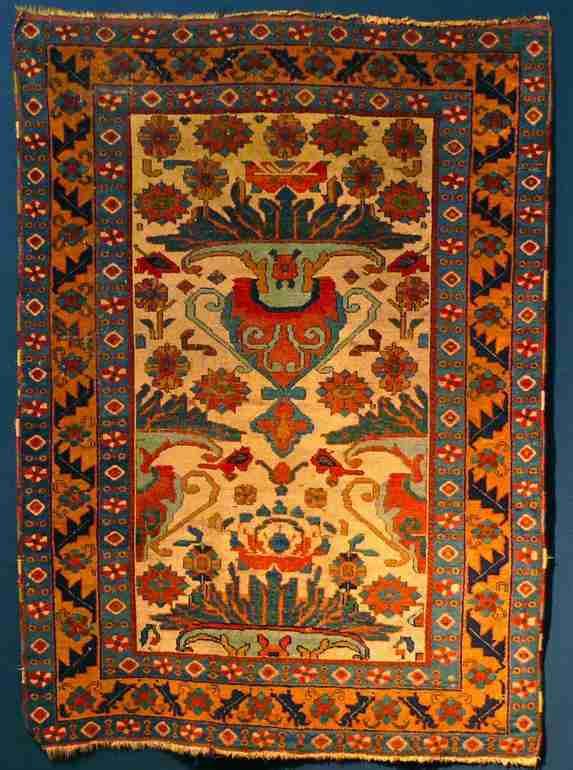 Early Afshar rug, vase design, The Antique Rug & Textile Show 2009 in San Francisco