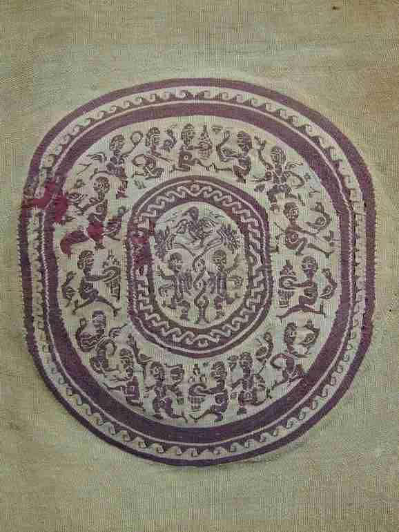 Coptic roundel 6-7 th century, The Antique Rug & Textile Show 2009 in San Francisco