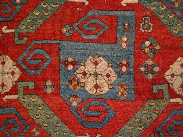 Antique Pinwheel Kazak, The Antique Rug & Textile Show 2009 in San Francisco