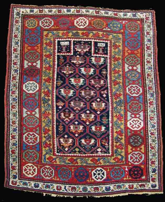Karabagh prayer rug, The Antique Rug & Textile Show 2009 in San Francisco